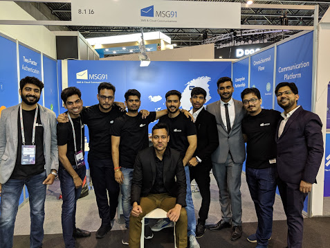 Team MSG91 at MWC19